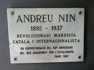 Ni un intel·lectual català va alçar la veu per preguntar el seu parador On és Nin? (Víctor Alba, 1997)