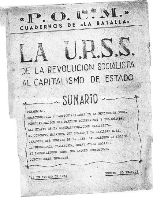 La URSS: de la revolución socialista al capitalismo de Estado (Ignacio Iglesias, 1952)
