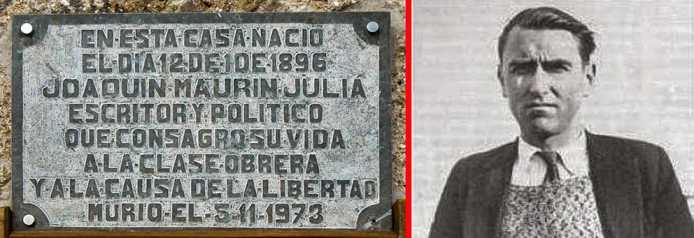 En la muerte de Joaquín Maurín (Pedro Bonet, 1973)