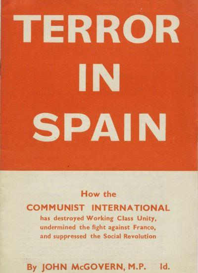 El terror estalinista en España (John Mac Govern, 1937)