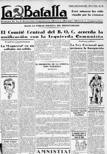 Breve historia del periódico «La Batalla» (Wilebaldo Solano)